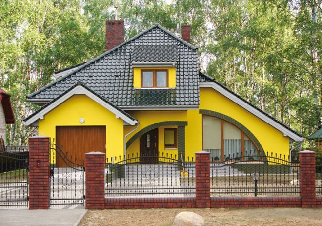 Правила выбора цвета для окраски фасада дома