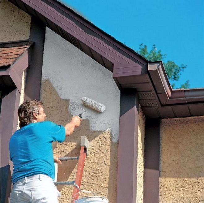 Выбираем качественную фасадную краску по бетону для наружных работ