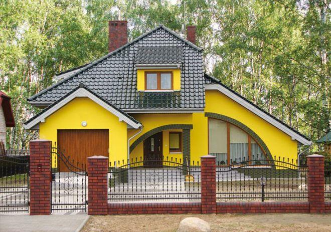 покраска дома из газобетона2