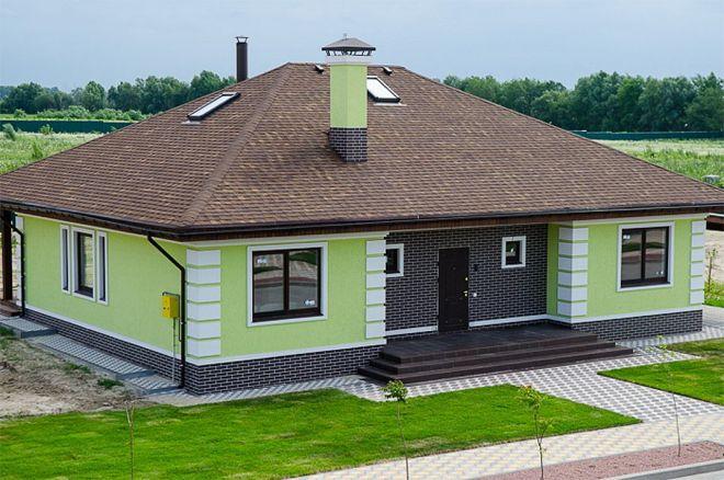 покраска дома из газобетона3