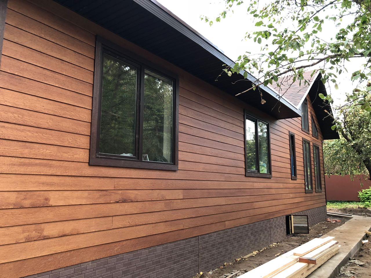 сайдинг для отделки фасадов деревянный